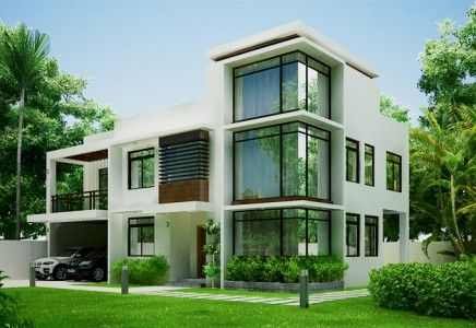 Glass House Designs mhd-2012002 is a breathtaking modern house design of glass