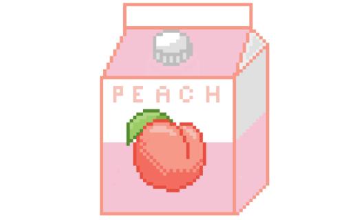 Pixel Milk Tumblr Peach Pinterest Peach Kawaii