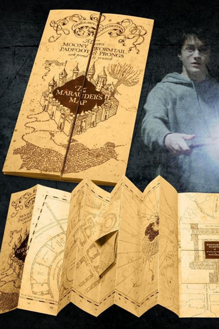 Noble Collection Marauders Map on