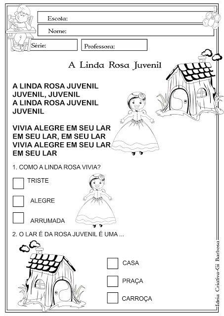 Atividade A Linda Rosa Juvenil Linda Rosa Juvenil Atividades E