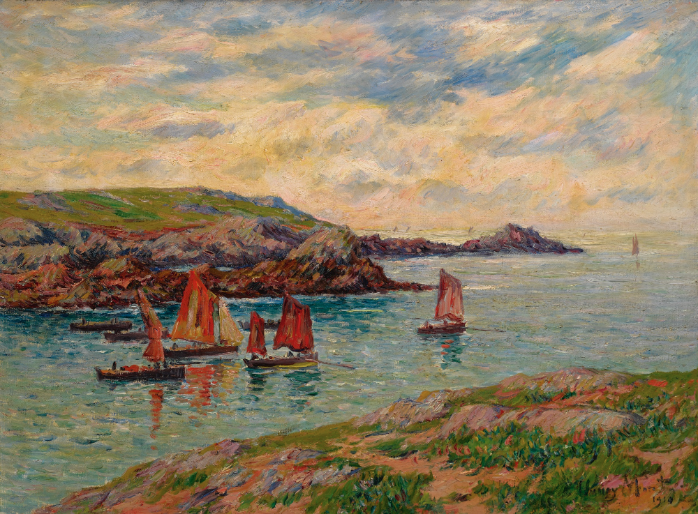 moret, henry porspoder, finist ||| landscape ||| sotheby's n10148lotbd26den  | Art day, Painting reproductions, Art