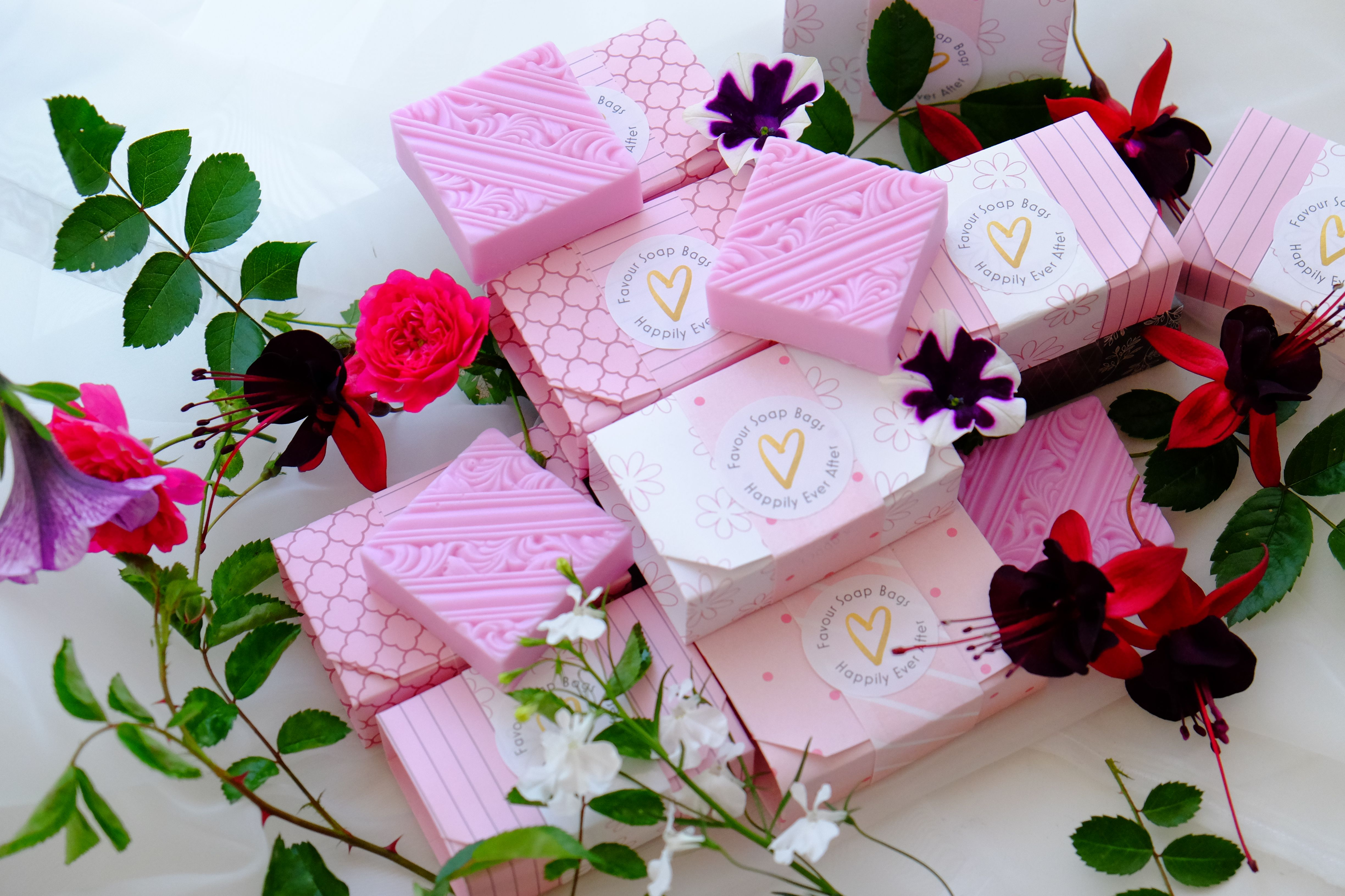 Wedding favour soaps. The Happily Ever After range features a ℮ 70g ...