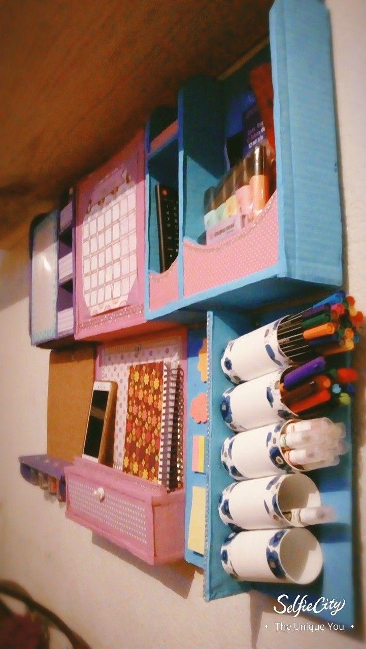 Organizador De Escritorio Para Pared Muebles Carton Manualidades