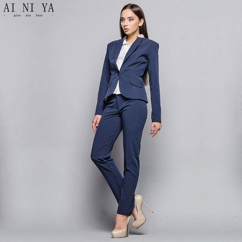 Find More Pant Suits Information About Jacket Pants Dark Blue