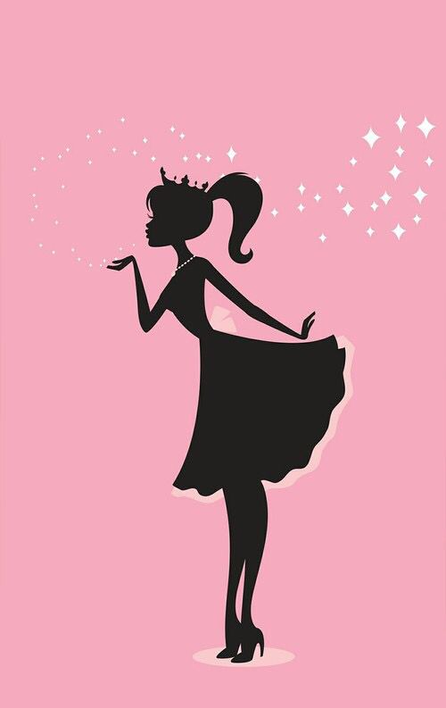 Silhouette Of A Barbie Doll Art Pretty Wallpaper Iphone Pretty