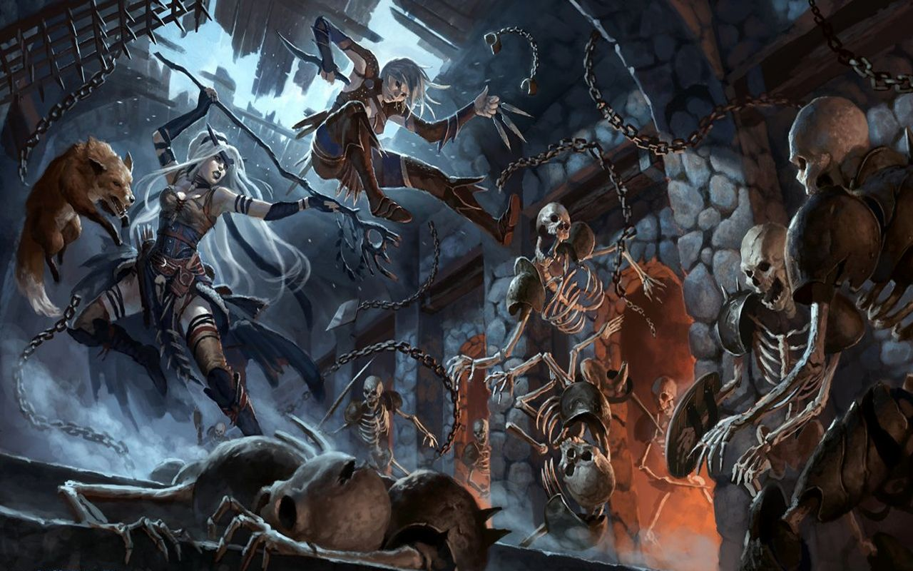 Fantasy art dungeons and dragons easier