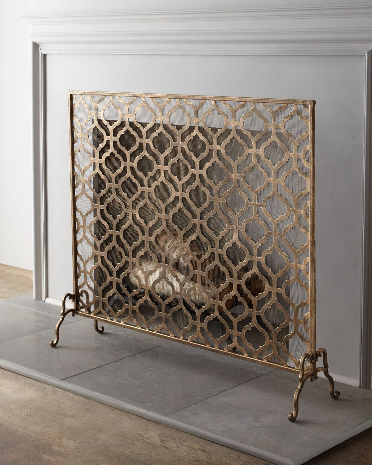 screens wrought with s screen decorative iron fireplace p black panel scroll white uniflame