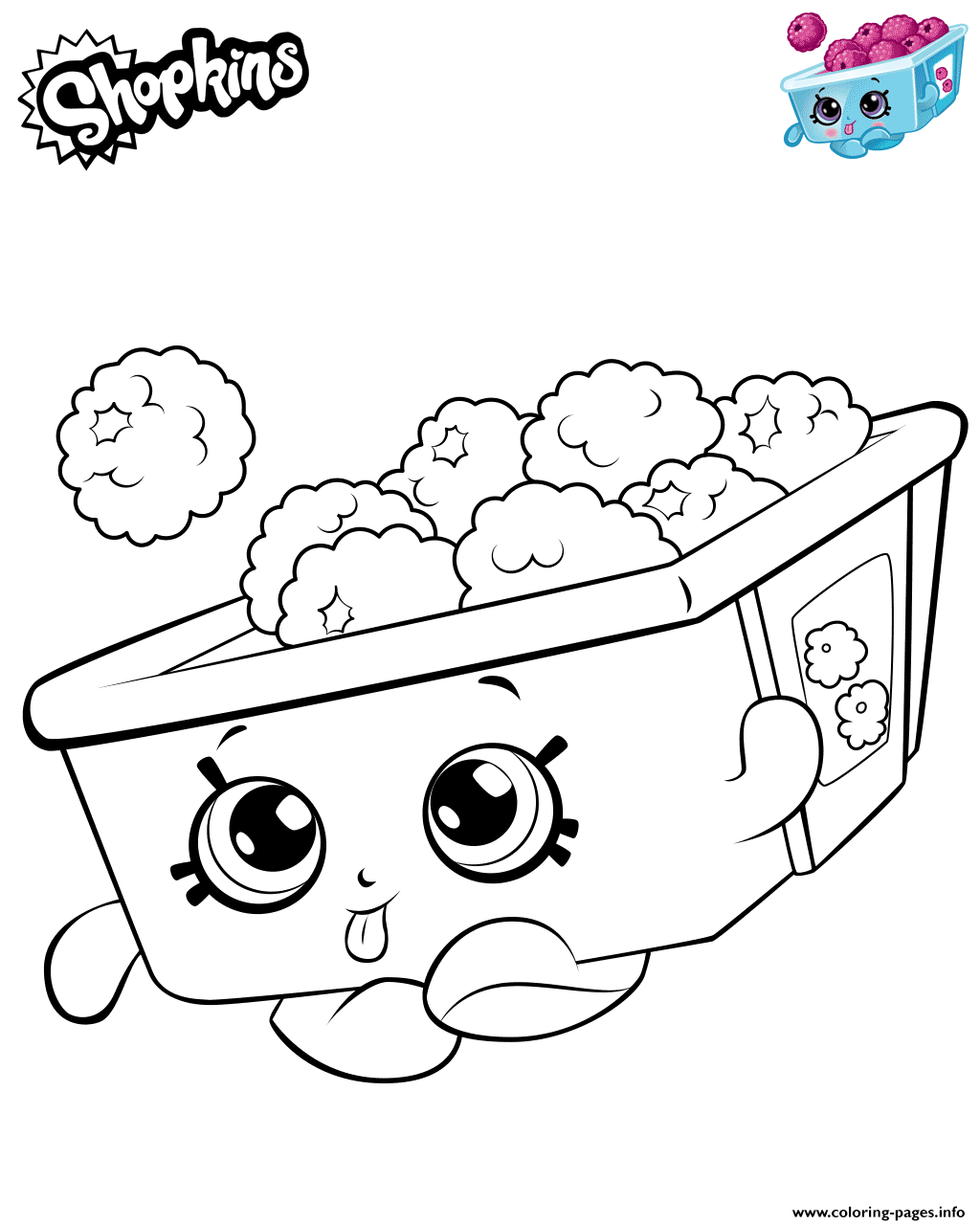 Print Raspberries Shopkins Coloring Pages Shopkins Colouring Pages Cute Coloring Pages Shopkins Coloring Pages Free Printable