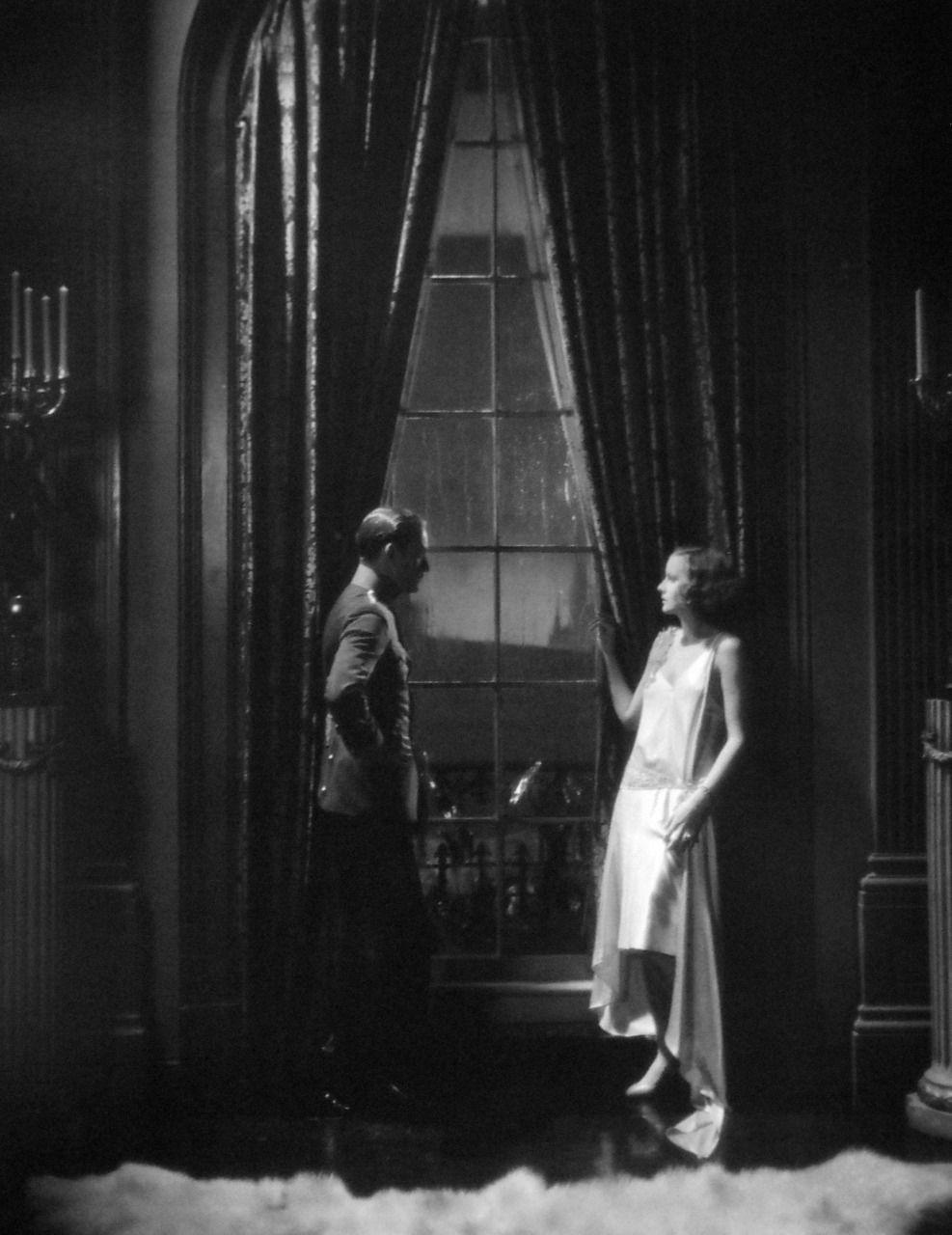 "leonardvole: "" Conrad Nagel and Greta Garboin The Mysterious Lady ..."