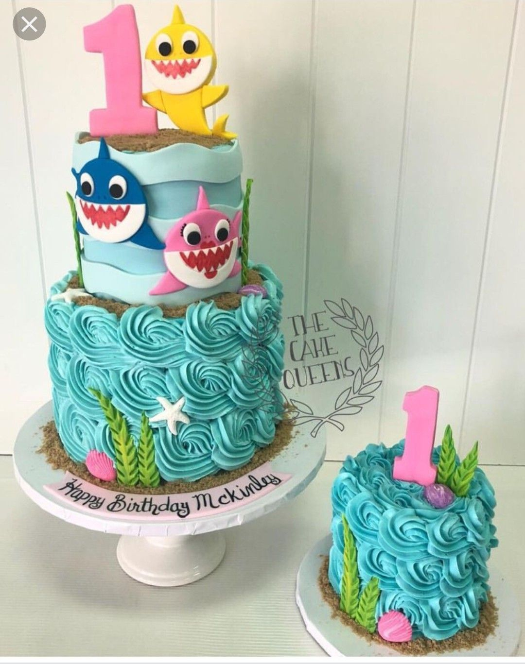 Baby Shark Cake Buttercream With Images Shark Birthday Cakes