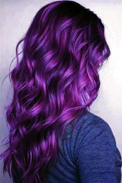 Rock your hair with deep purple color! | Deep purple color, Deep ...