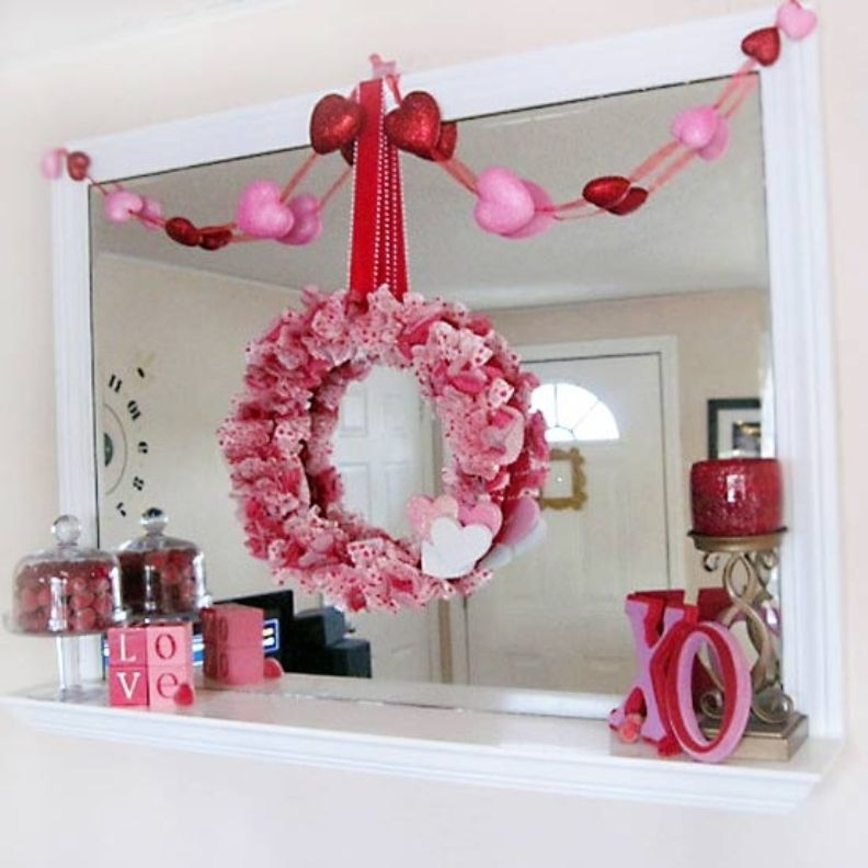 valentine decor | Mantels, Holidays and Wreaths