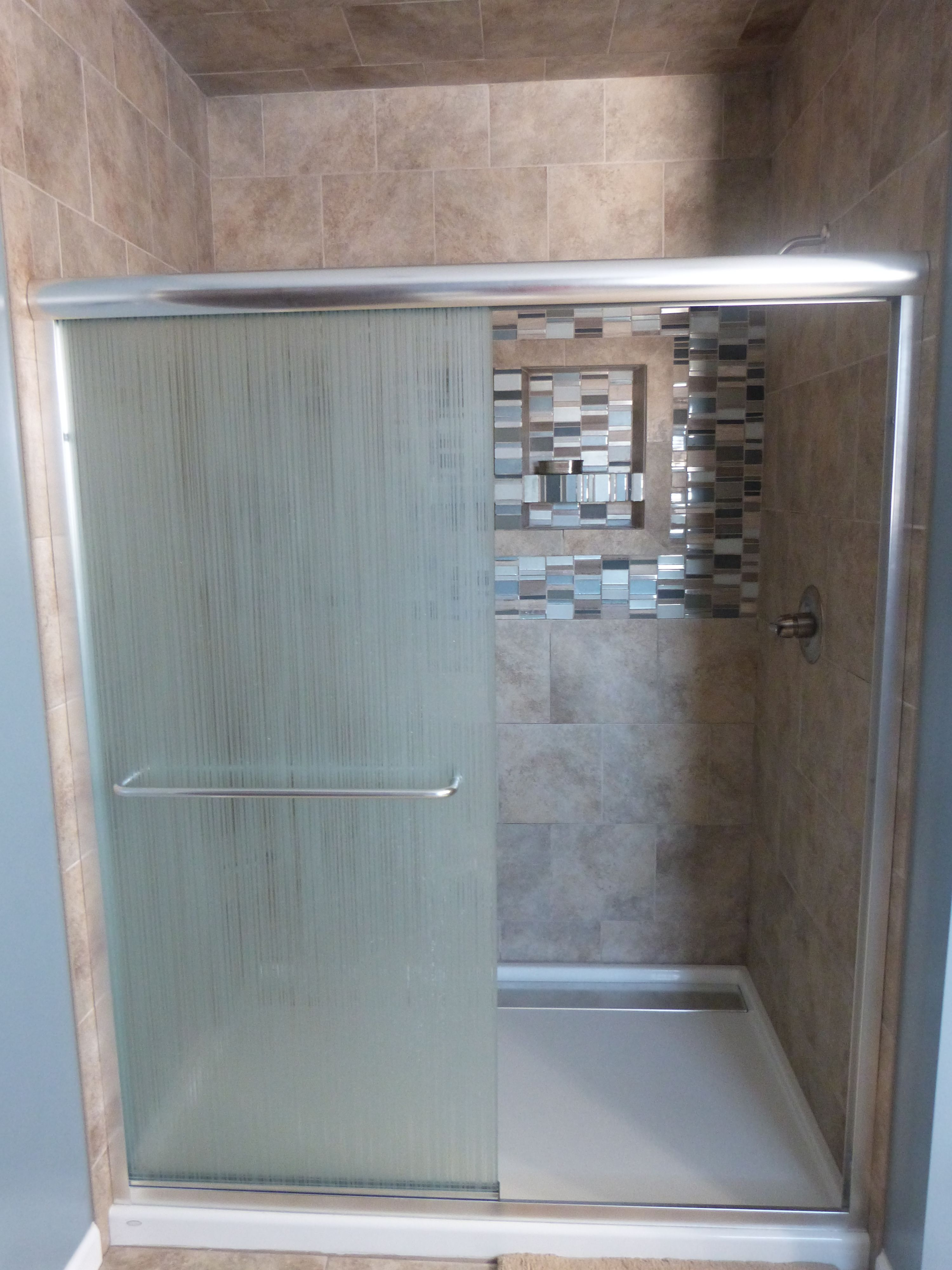 Master Bathroom - Tile Shower - Bathroom Decor   Bathroom / Master ...