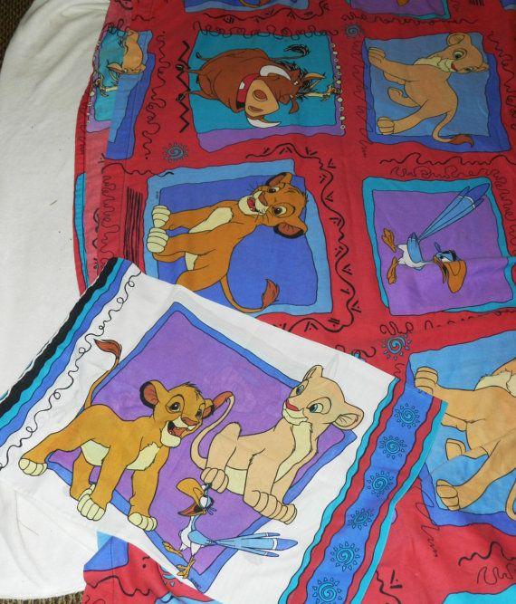 Vintage Lion King Sheet And Pillowcase Set My Dream