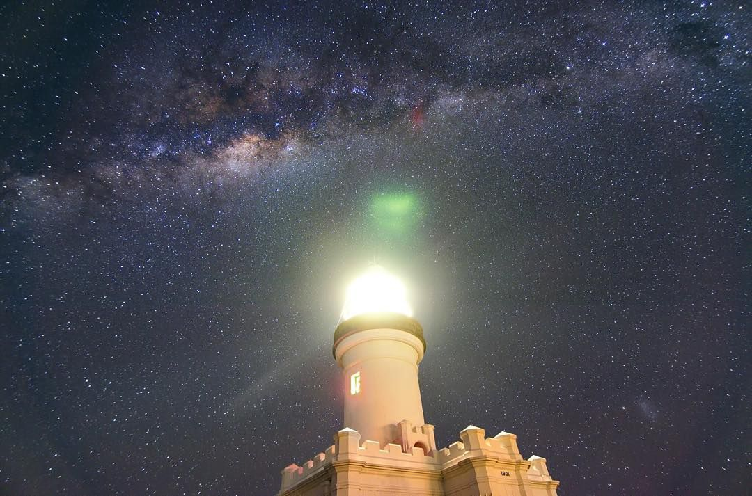 On instagram by dylan_odonnell_  #astrophotography #metsuke (o)  http://ift.tt/1Sq4sUA  Cape Byron Lighthouse in Winter - I miss the Milky Way and the cool clear nights that winter on the easternmost edge of Australia provides. It's always an effort to rug up and go out into the cold night but I never regret it. On the other hand it's good not to be mauled to death by summer night mosquitos too. (_) Here's an older winter photo taken with a Nikon D5100 reprocessed with everything I've…