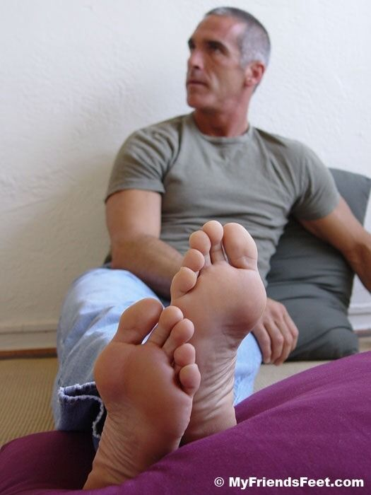Granny mature foot in face