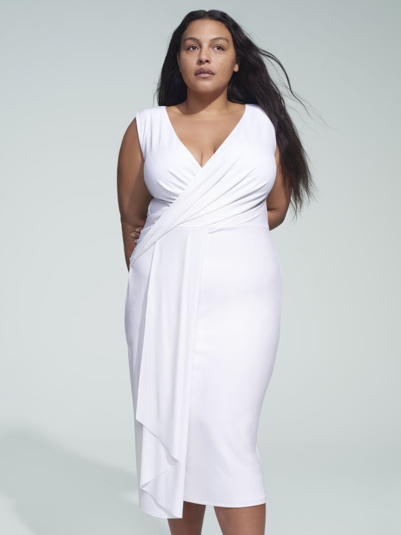 Glam Spring Styles In Plus Sizes Perfect For Any Event Even Prom Womens Midi Dresses Plus Size Dresses Fashion [ 1066 x 800 Pixel ]