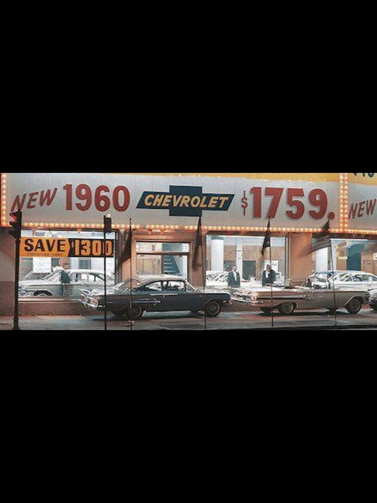 Auto Repair Shop Signs >> 1960 Chevy Dealership - Buy a new Chevy for $1,759 | Used Car Buying | Pinterest | Chevy ...