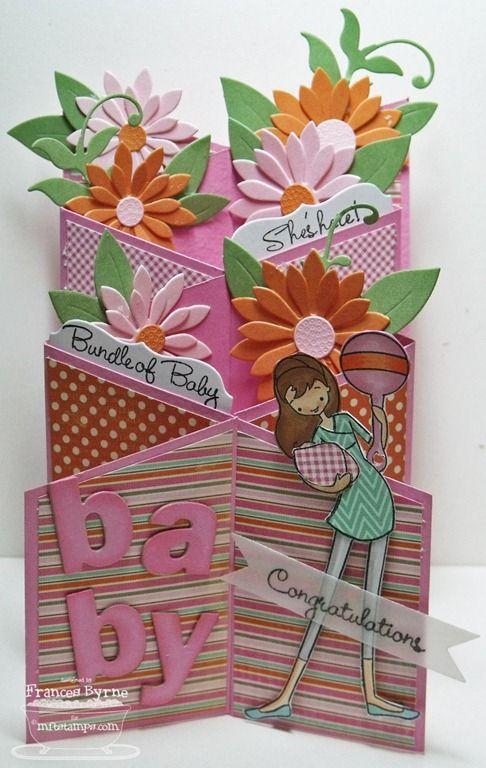 Mft 2520cascadingbaby 2520wm 255b5 255d Jpg Image Shaped Cards Fancy Fold Cards Cards Handmade