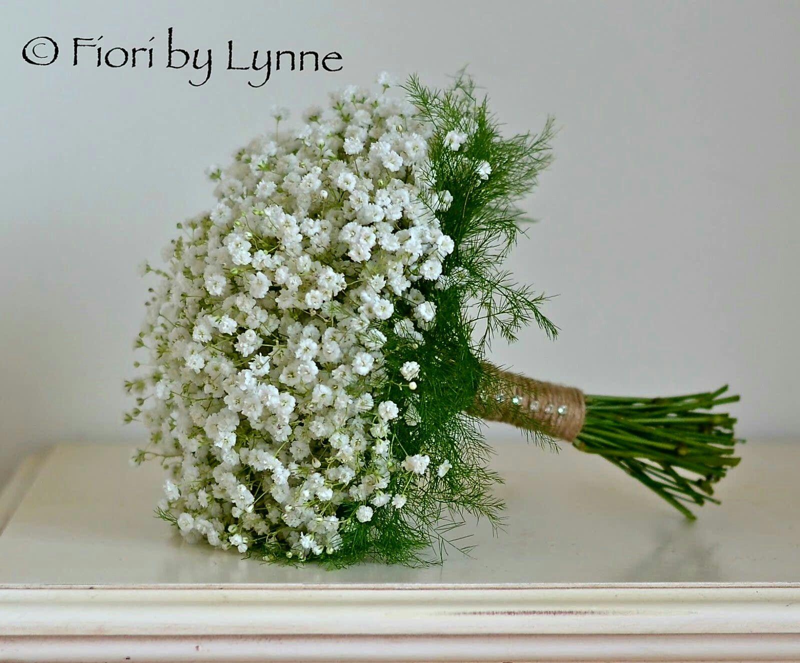 Rustic Hand Tied Wedding Bouquet Featuring White Gypsophila Baby S Breath Green Tree Fern Fo Wedding Flowers Gypsophila Wedding Flowers Gypsophila Bouquet