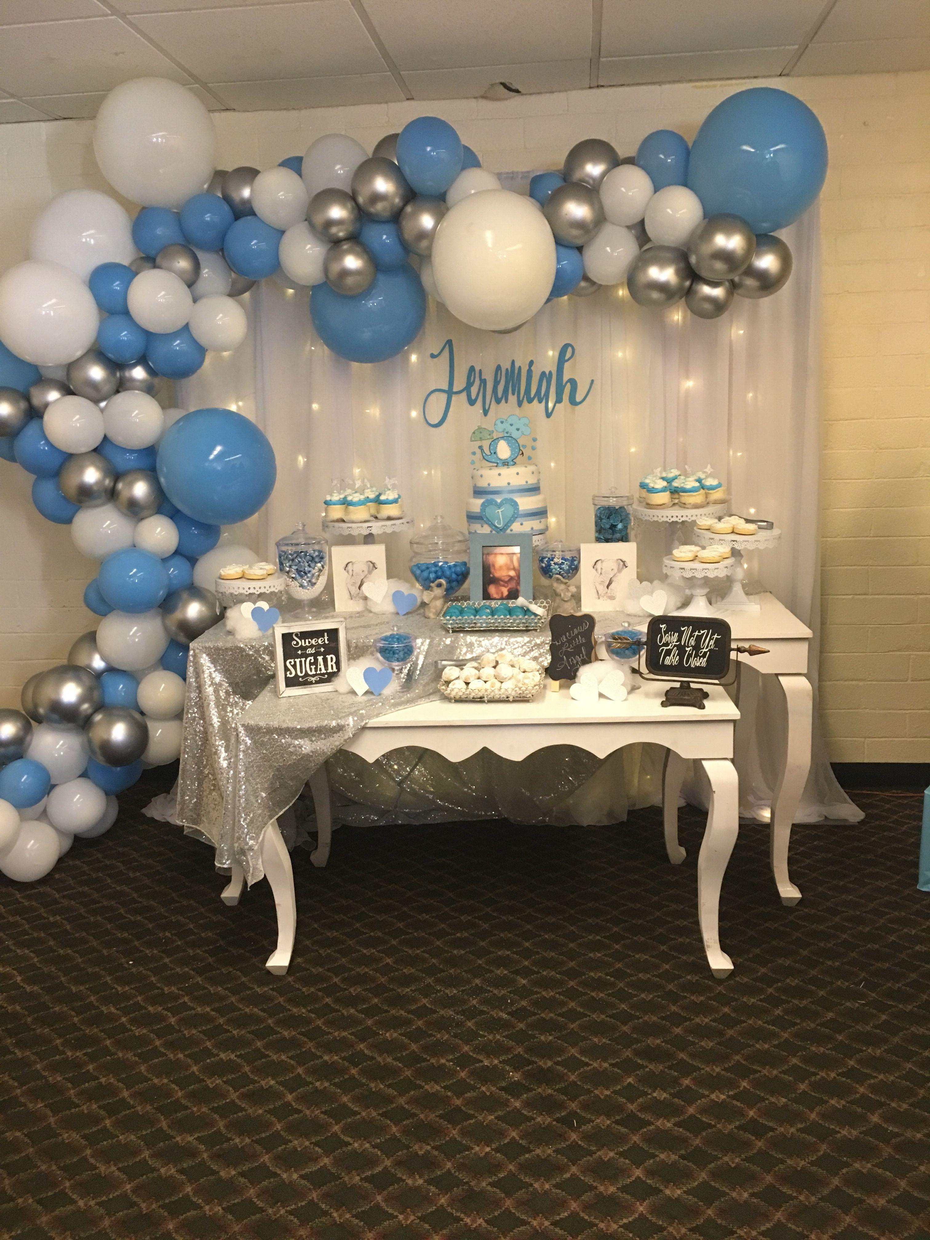 Boy Baby Shower Baby Shower Balloons Blue Baby Shower Decorations Baby Shower Decorations