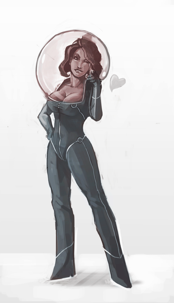 Moongirl! Saw Simone Kesterton's character and loved it and had to draw a version myself. The original design's by Kesterton: http://schmoesi.tumblr.com/image/63720832683