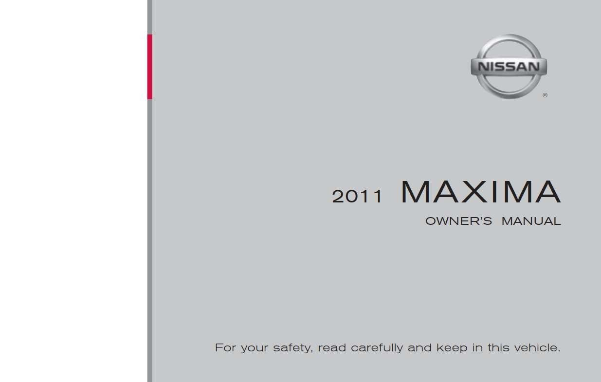 Nissan Maxima 2011 Owner S Manual Has Been Published On Procarmanuals Com Https Procarmanuals Com Nissan Maxima 2011 Owne Nissan Maxima Owners Manuals Nissan