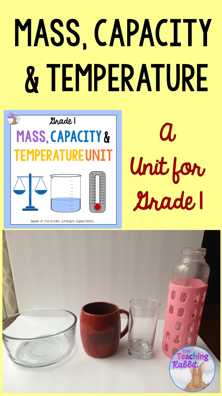Mass, Capacity & Temperature Unit for Grade 1 (Ontario Curriculum ...