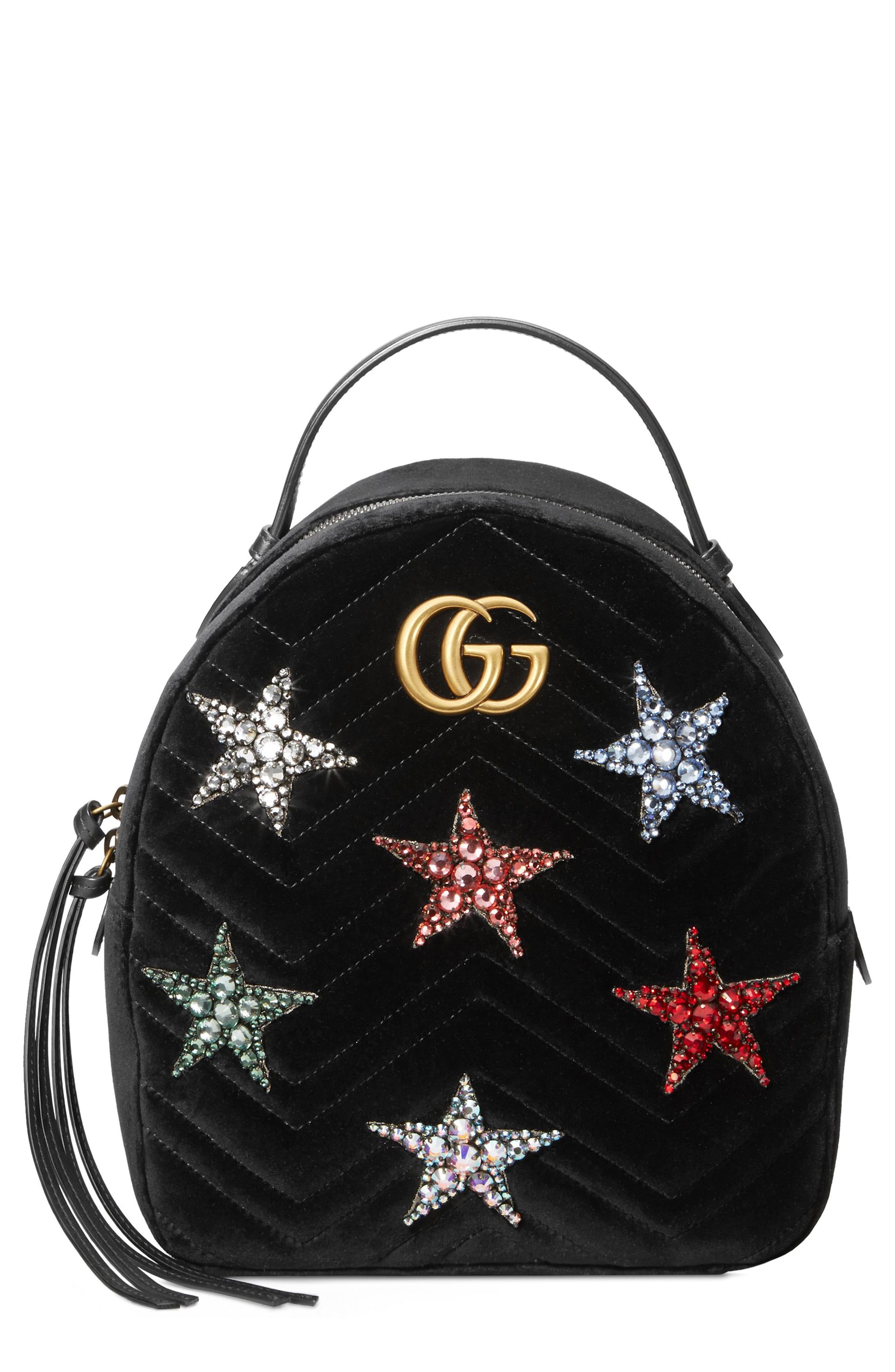 3d1a92b9f Gucci Marmont 2.0 Crystal Stars Velvet Backpack in 2019 | Products ...