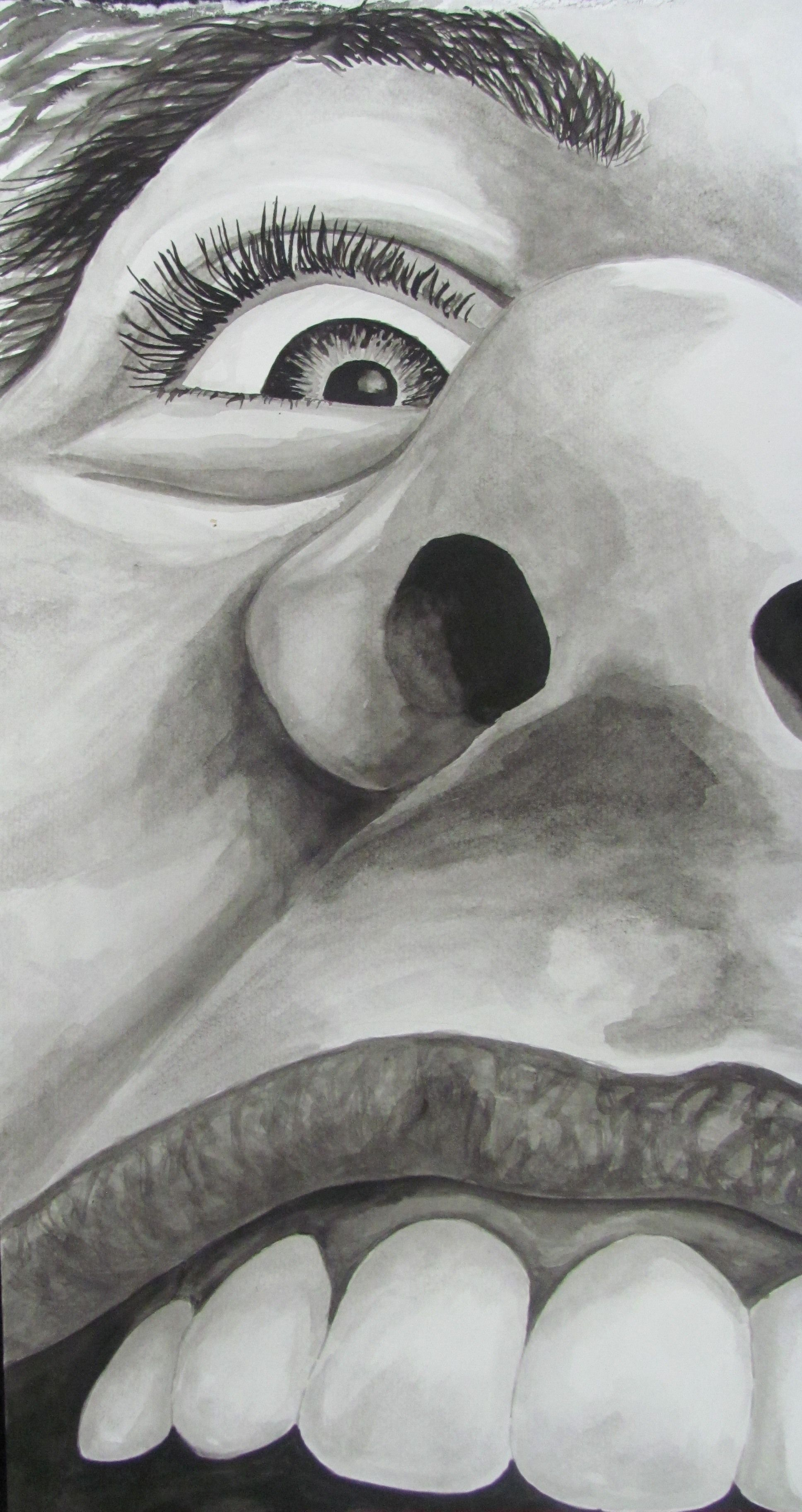 Water Soluble Graphite W Mixed Media Close Up Of Self
