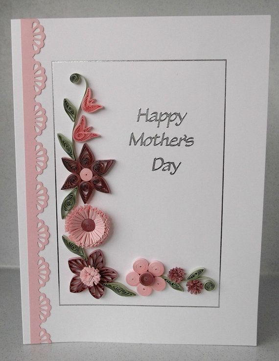 Quilled mothers day card paper quilling flowers handmade a very quilled mothers day card paper quilling flowers handmade a very pretty and unusual paper quilling card you will not find anything like this in mightylinksfo