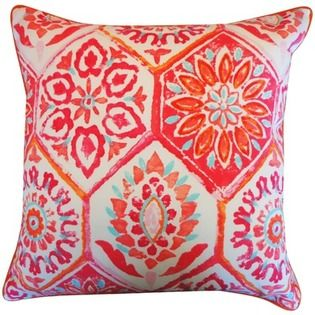 Jiti Pillows Palermo Polyester Pillow Color Red At Sears Com