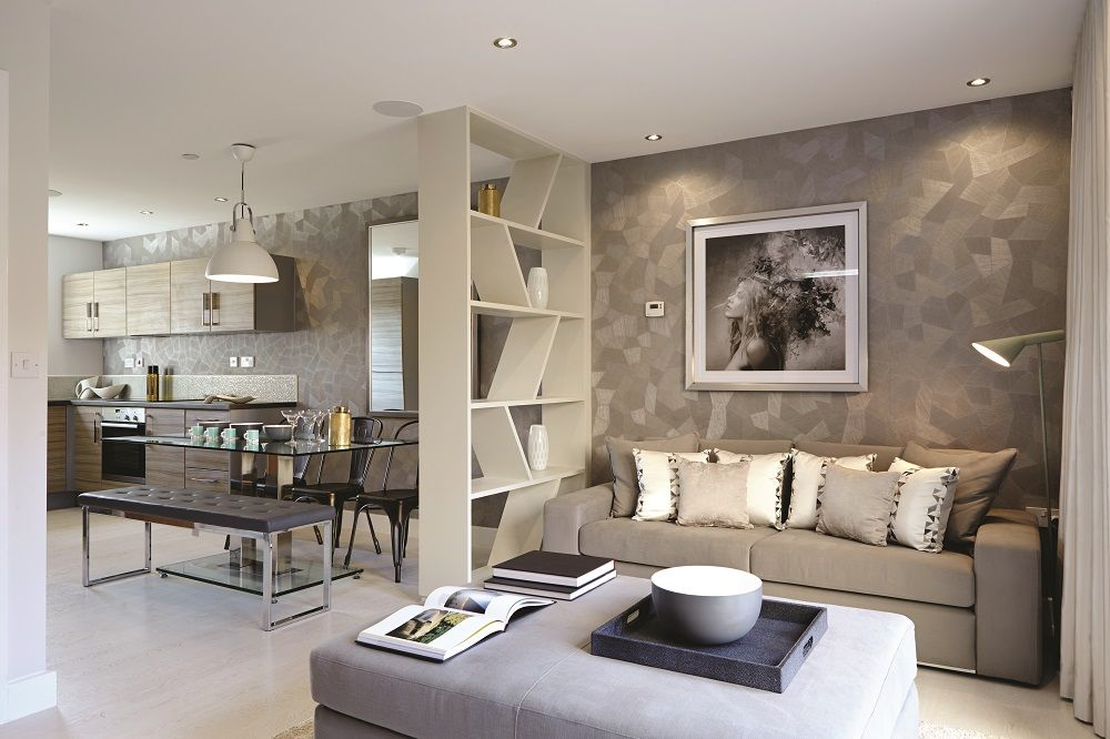 Break up a large room with furniture to create different spaces ...