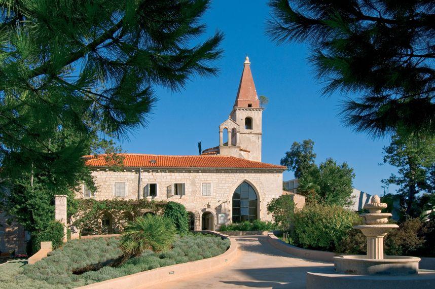Rovinj, Croatia.   The preserved cultural heritage in the Old Castle.  Hotel Istra at Crveni Otok.