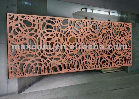Decorative Metal Screen Panels Cloisons De Separation En Bois