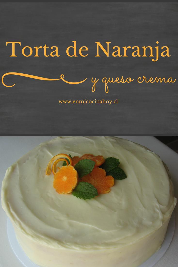 Torta de naranja y queso crema