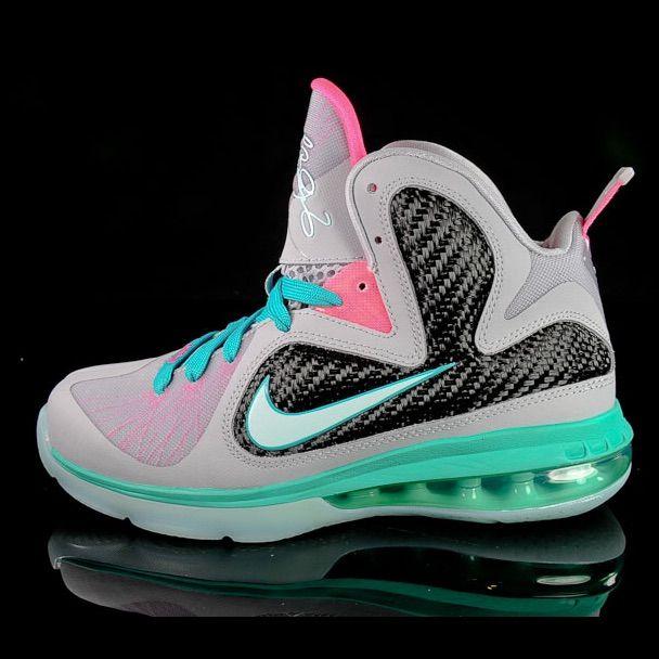 Nike Shoes Lebron James South Beach 9 Color Blue Pink Size