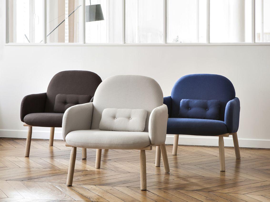 Fauteuil GEORGES - design de Guillaume Delvigne  #hartô #design #guillaumedelvigne #georges #lightgrey #slategrey #blue #decoration #home #oak
