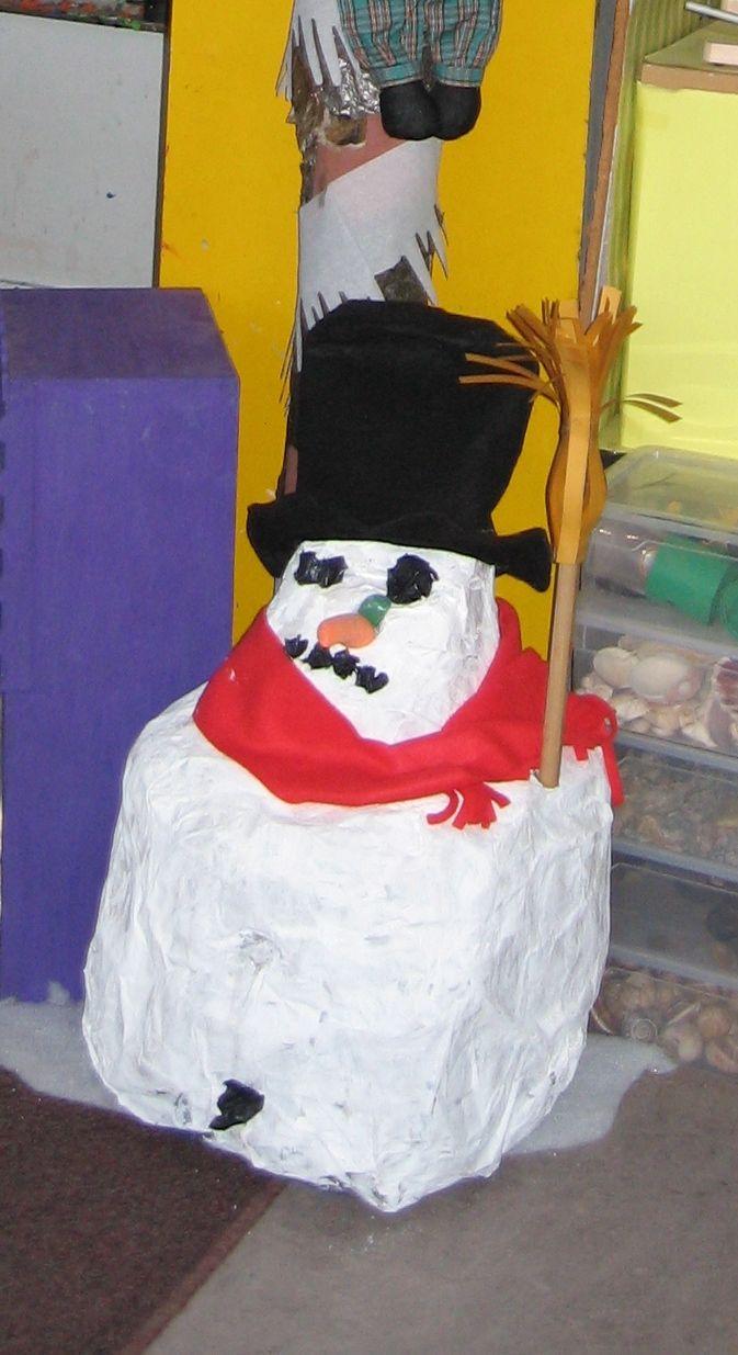 sneeuwpop in de klas