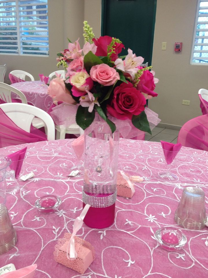 Centro de mesas flores naturales | 15 de bailarina | Pinterest ...