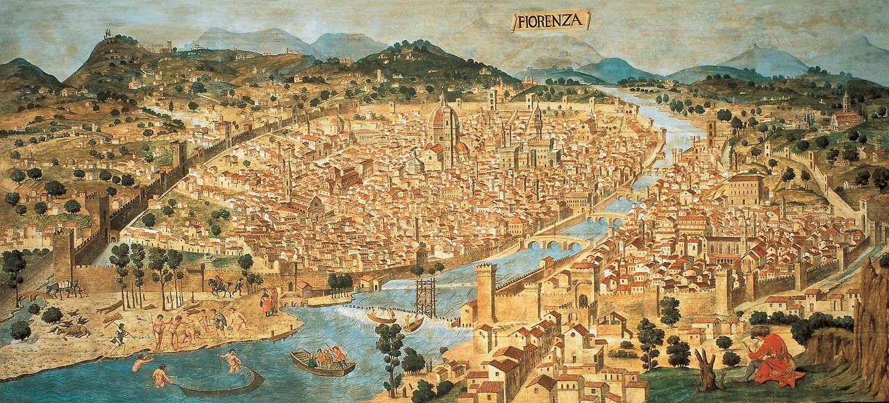 Francesco Rosselli Map Of Florence N D 15th Century Art