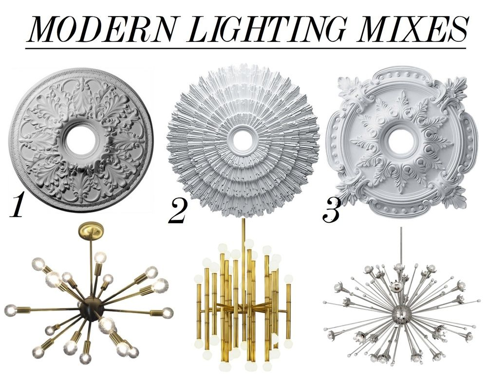 how to install modern ceiling medallions | Medallion mixes... | Interiors | Modern ceiling medallions ...