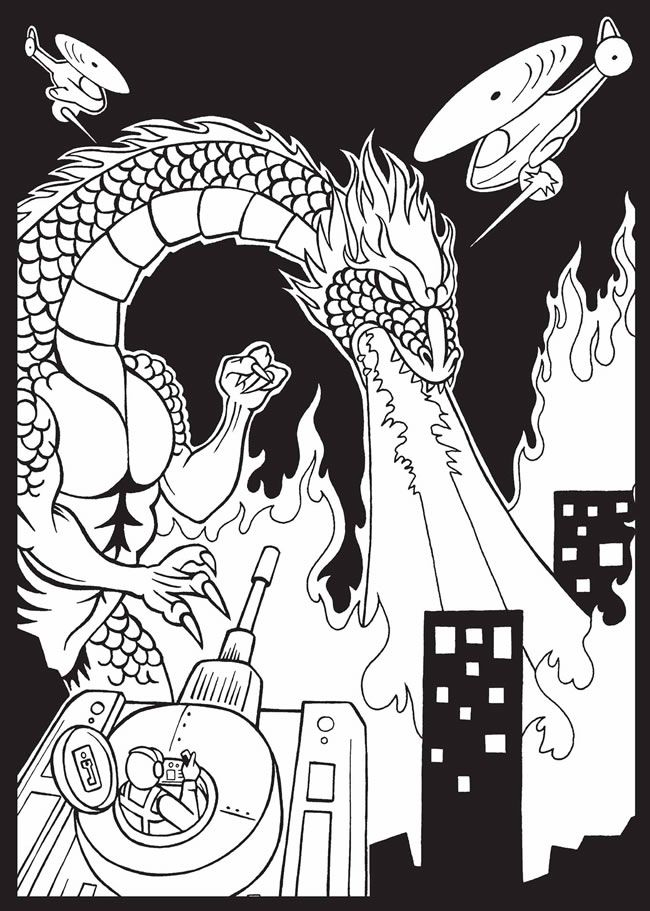 Monsters Destroyed My City Stained Glass Coloring Book Dover Rhpinterest: My City Coloring Pages At Baymontmadison.com