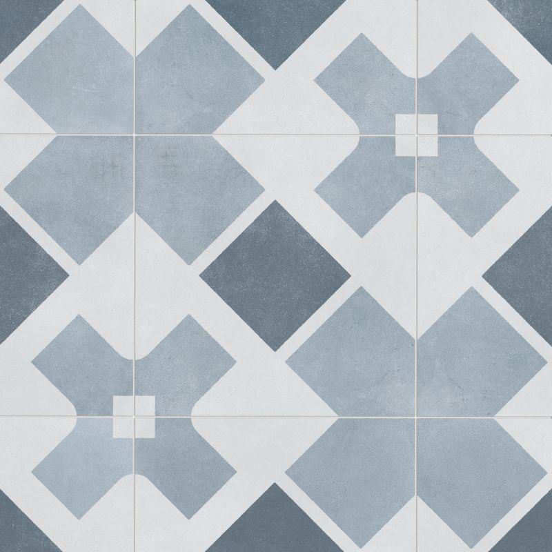 Lapaz White Cross 9x9 Matte Porcelain Tile Unique Tile Floor Patterned Floor Tiles Porcelain Tile