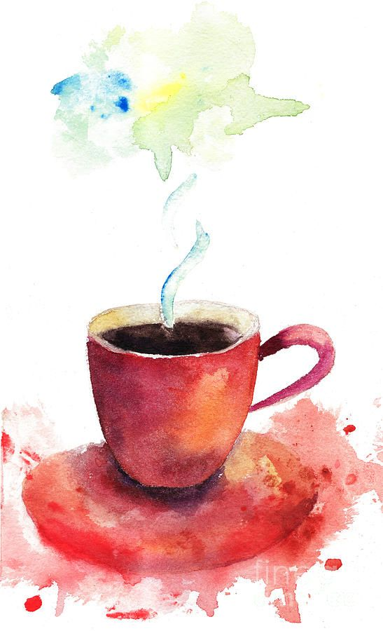A Cup Of Coffee By Regina Jershova Coffee Cup Art Painting