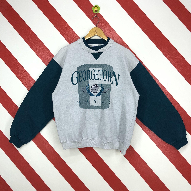 Vintage 90s Georgetown Hoyas Sweatshirt Georgetown Hoyas Etsy Long Sleeve Tshirt Men Embroidery Logo Sweatshirts [ 3000 x 3000 Pixel ]