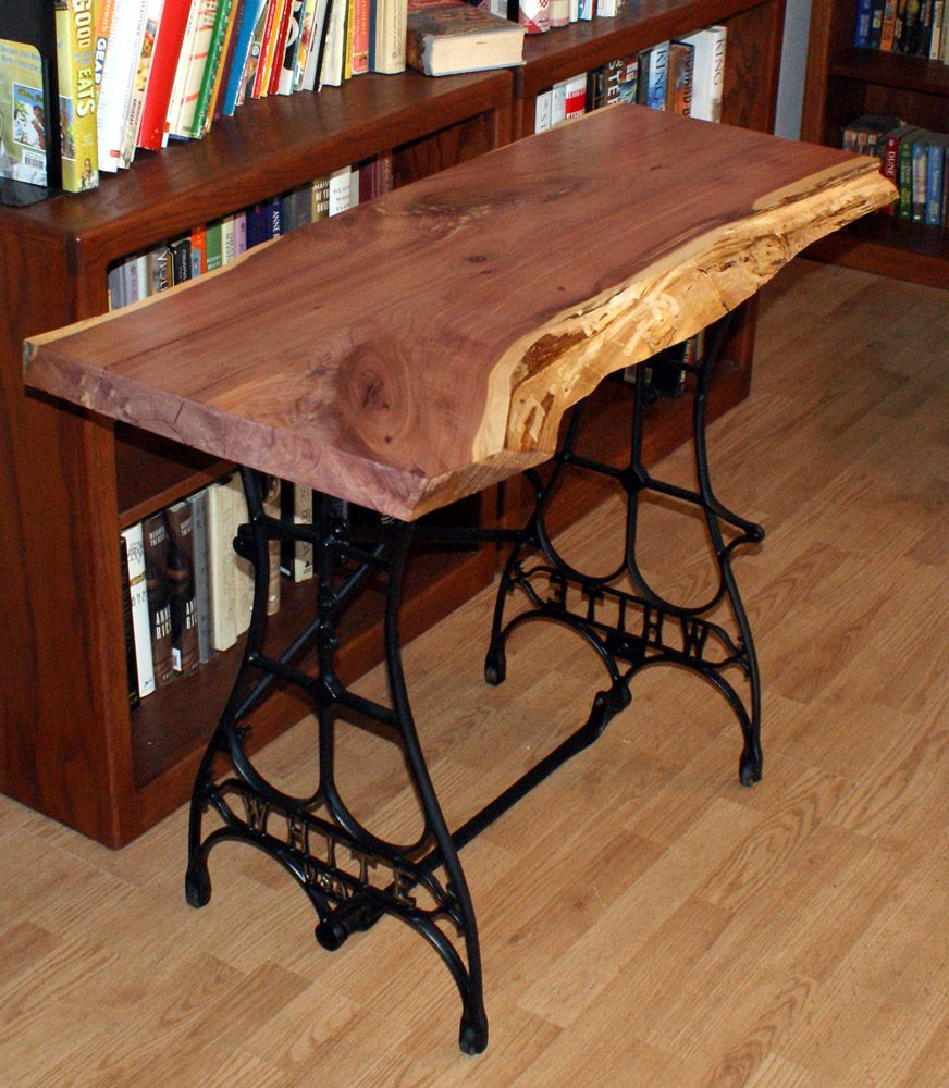 sewing machine table democratic underground idea use my raw edge board antique bronze spray. Black Bedroom Furniture Sets. Home Design Ideas