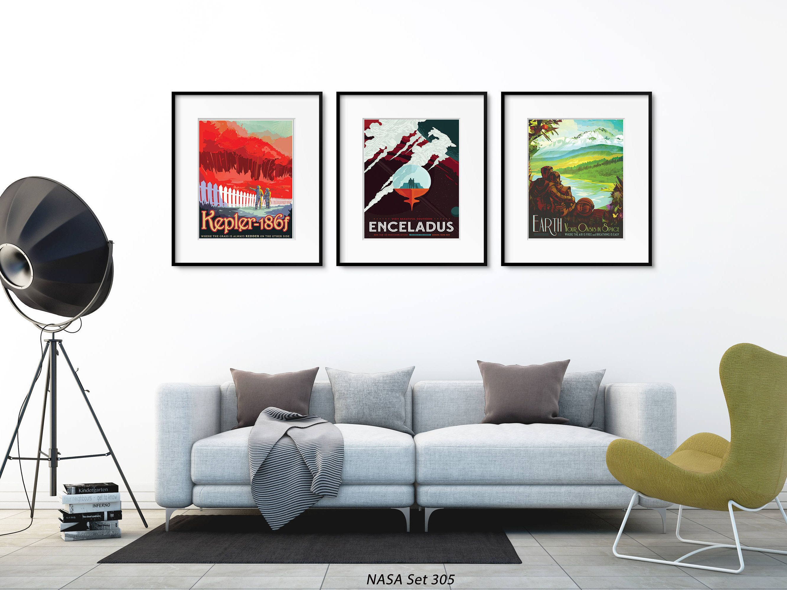 Nasa Poster Wall Art Space Artwork Set Of 3 Space Prints Space Poster Art Outerspace Decor By Picturebypicture O Space Artwork Poster Wall Art Space Poster