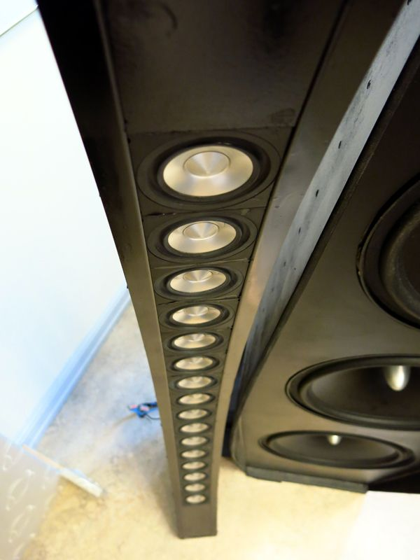 Full-range open baffle line array speaker.  All things I like.