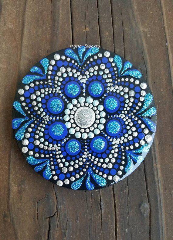 b993dc18ed5bd Handpainted mandala wooden magnet, mandala, painted wood, wood ...